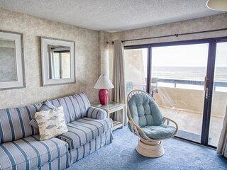Sea Pointe 406! 1 Bedroom Oceanfront Condo Large sundeck/Indoor Pool