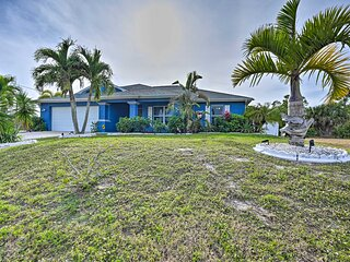 NEW! Beachy Cape Coral Home w/ Pool & Water Views!