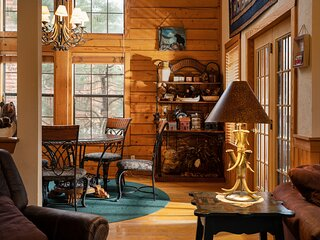 Tucked-Away but Close to Everything! Walk-in Cedar Log Cabin