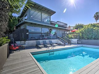 Modern Hillside Estate w/ Pool, Deck & Great Views