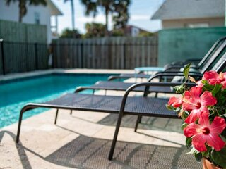 Seascape 1 - Downstairs unit Beach House- 300 ft. from beach, POOL, Large Porch,