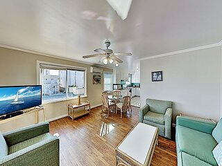 Downtown Escape with Private Balcony - Walk 5 Minutes to Beach & Boardwalk!
