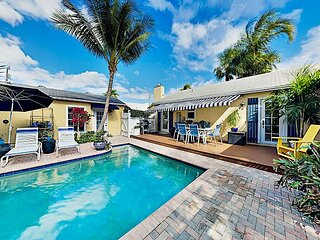 Luxe Tropical Getaway | Private Heated Pool & Spa | Near Beach, Dining & Golf
