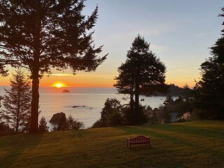 New Listing Magical Majestic Ocean & Redwood Views on 3 Acres!