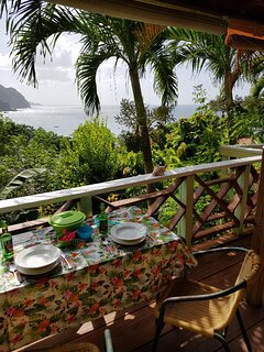 Eat Al fresco on the veranda outside Sunset 2 and watch the birds and sunsets