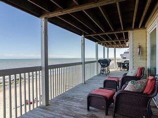 Incredible views in this stunning condo with a wrap around deck