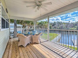 NEW! Withlacoochee River House w/ Dock + Kayaks!