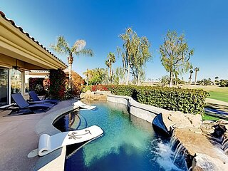 Luxe PGA West Home | Lush Outdoor Paradise on Fairway | Lagoon Pool & Spa