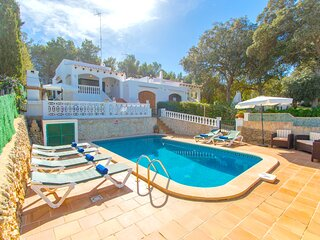 Villa Ohana in Cala Galdana with private pool and free wifi