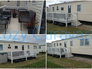 Beautiful & spacious ABI Tebay 3 bed-roomed caravan, next to the beach from £165