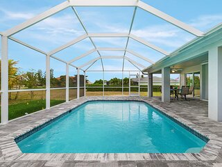 Newly built home with heated pool, close to many amenities