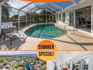 35% OFF! SWFL Rentals - Villa Christylee - Gulf Access Electric Heated Pool Home