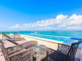 Isla Mujeres Spectacular Oceanfront Penthouse 3Bd 3Bth Private Pool  by MINT