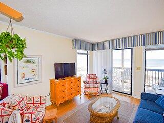 Tilghman Beach and Racquet Club Unit: 208! Oceanfront 3 Bedroom Condo. Book now