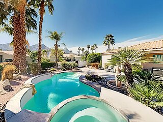 Private & Ideal Locale at Indian Wells | Heated Pool, Spa, Office & Casita