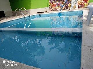 Cabana grande con piscina