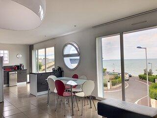 Belle villa vue mer à 150m de plage et 300m du bourg, idéale pour 8 personnes