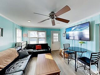 New Listing! Charming Updated Apartment w/ Porch - Walk to the Beach
