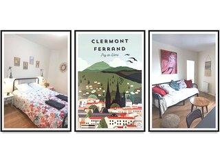 Appartement design et chaleureux, centre-ville