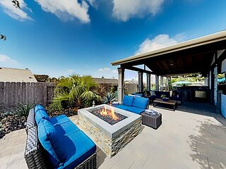 Chic Retreat | Fenced Backyard Oasis with Kitchen, Bar & Billiards | Fruit Tr