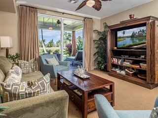Waikoloa Beach Villas L3.  Ground floor, spacious lanai and grass area.  Include