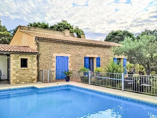 Nice home in Vallabrix with Outdoor swimming pool, WiFi and 3 Bedrooms (FLG615)
