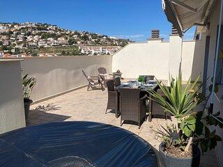 Terraza privada con Jacuzzi