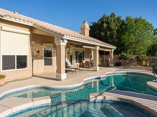 New Listing! Longer Stay Discounts! House w/ Pool Heater, Spa, On the Golf Cours