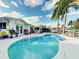 Seahorse House | Waterfront Pool, Dock, Kayaks, 2 Patios | Minutes to Beach