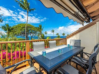 Maui Kamaole #G-201 2Bd/2Ba Front Row, Ocean View, Full A/C, Wifi, Sleeps 6
