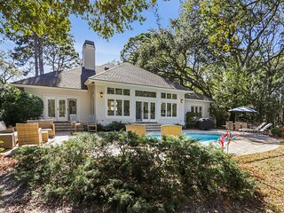 Gorgeous Home with Private Pool & Dock on Lagoon in Palmetto Dunes!  3 World cla