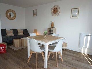 Duplex pour 4 personnes dans une residence avec acces a la plage