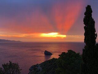 Graziosa villetta con vista mozzafiato sulle isole dell'arcipelago toscano