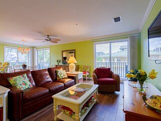 Gulf Shore Drive Townhome with Water Views & Private Beach access across the str