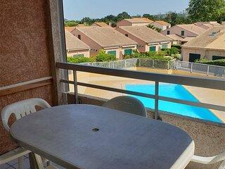 Appartement T2 4 couchages - Vue PISCINE - Centre d'ARGELES SUR MER