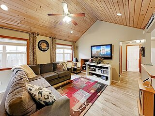 3-Suite Charmer | Wraparound Deck with Grill & 2 Firepits, Walk to Beach