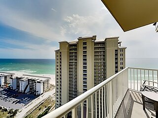 Grand Panama Resort End Unit | Balcony, Gulf Views | Pools & Hot Tubs