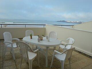 grande plage - studio face mer avec grande terrasse
