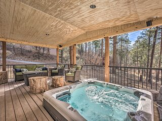 NEW! Ruidoso A-Frame Cabin 1 Mi to Grindstone Lake
