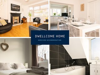 DWELLCOME HOME Airyhall House 5/6 beds FREE PARKING 100Mbps Broadband