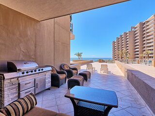 Ground Floor 1 Bedroom Las Palomas Beach Condo - HUGE Patio Steps From The Pools
