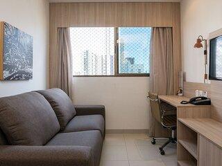 NOB2906 Excelente Flat em Boa Viagem com um quarto, no Bristol. Ideal para turis
