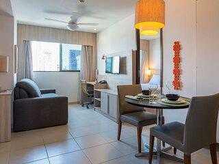 NOB706 Excelente Flat em Boa Viagem com um quarto, no Bristol. Ideal para turism