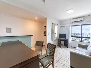 OTH1401 Flat na Ilha do Leite, Recife, um quarto. Fica em um dos mais importante