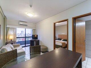 OTH1603 Flat na Ilha do Leite, Recife, um quarto. Fica em um dos mais importante