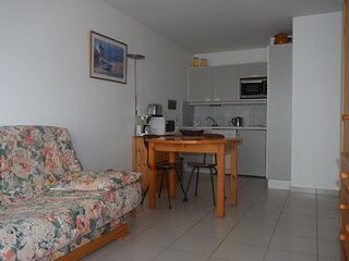 Appartement 1 chambre avec accès direct à la plage avec garage privé