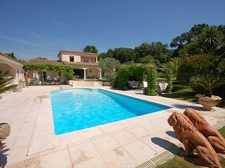Refurbished Villa with views up to the Village of Gassin. Close to St Tropez.