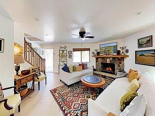 Brand-New Custom-Built Mountain Retreat | 2 Fireplaces, Deck & Home Office