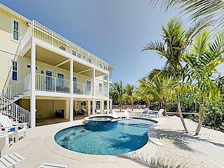 Seven Palms | Waterfront, Ocean Views, 50' Dock, Kayaks, Bikes, Walk to Beach