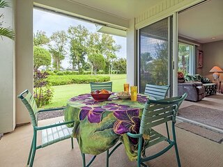 Air-conditioned, elegant and spacious, golf course view, walk to beach!